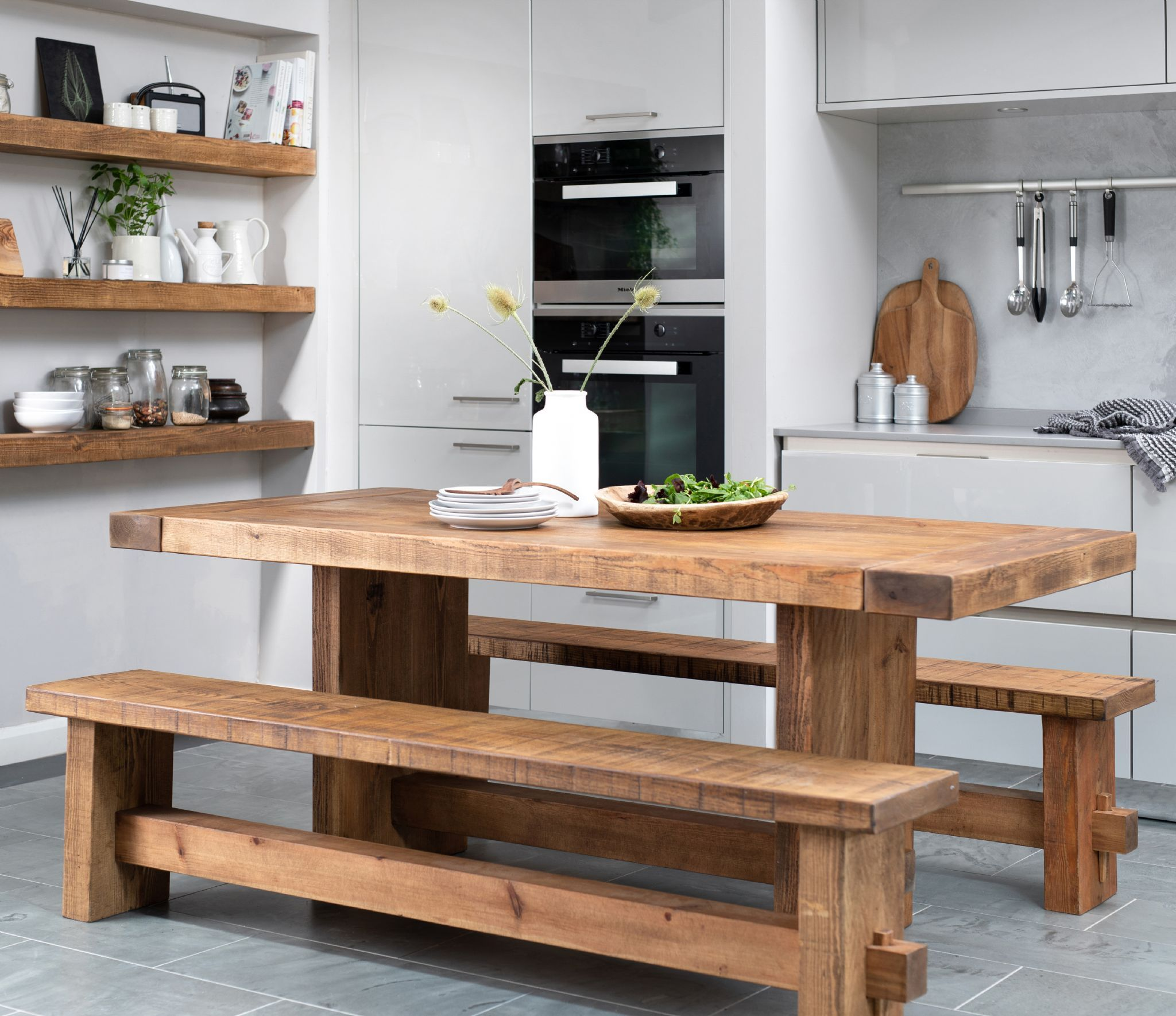 Derwent Dining Table Rustic Pine 150cm Dining Table With