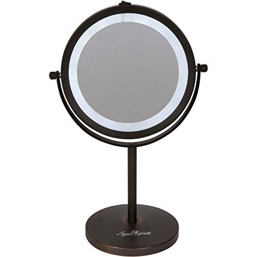 Aqua Elegante 6 Inch Led Makeup Mirror Doublesided Lighted 10x1x