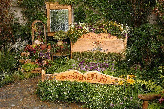 Gartenideen Zum Selber Machen Vintage Doppelbett Holz