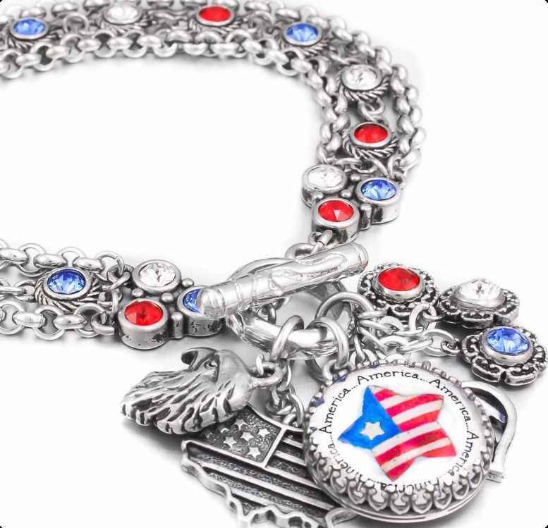 4th of July Charm Bracelet