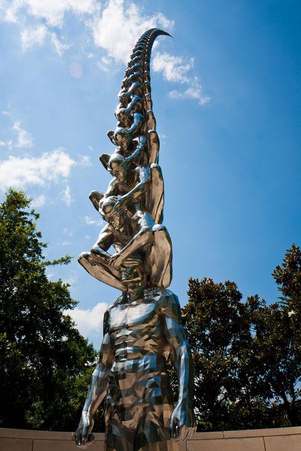 Karma, Auguste Rodin, Sculpture Metal, Garden Sculpture, Street Art, New Orleans