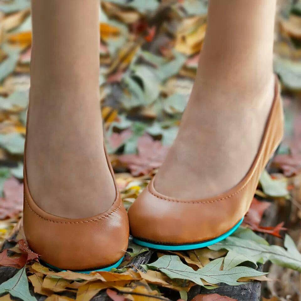 Chestnut Tieks Flats....