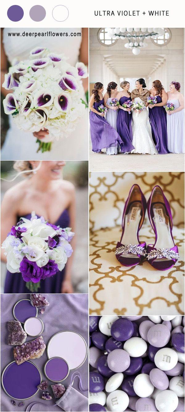 Pantone Wedding Color 2018 7 Ultra Violet Wedding Color Palette