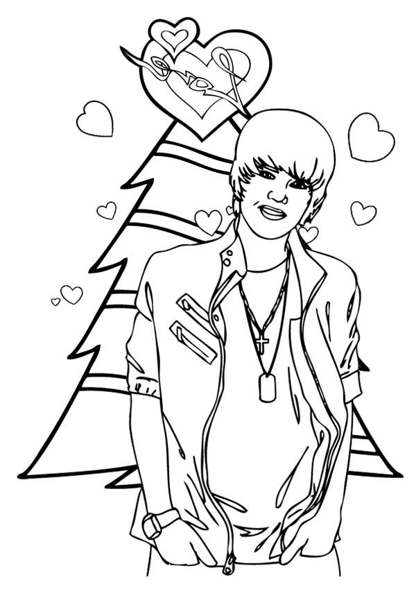 Merry Christmas Justin Bieber Coloring Page Netart In 2020 Merry Christmas Coloring Pages Coloring Pages Christmas Coloring Pages