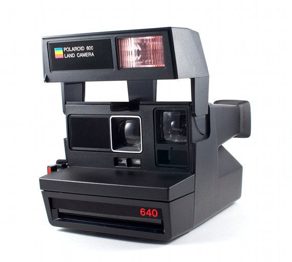 Vintage Polaroid Camera 640 Retro Hipster Instant Photo 600 Film. I've always wanted one of these!!