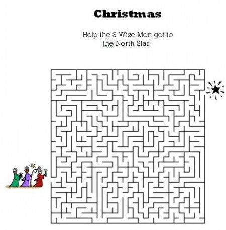 Kids Bible Worksheets Free Printable Christmas Maze Kids Bible