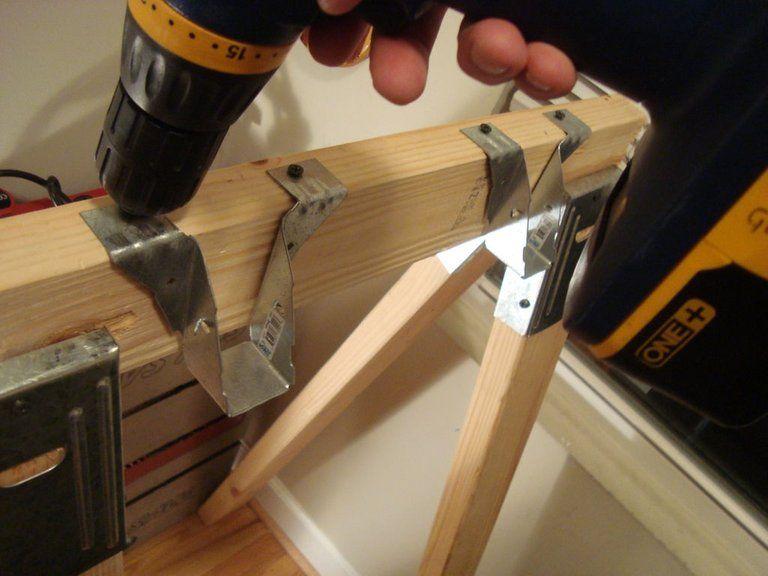 Making an Affordable Saw Horse Desk Diy desk, Sawhorse