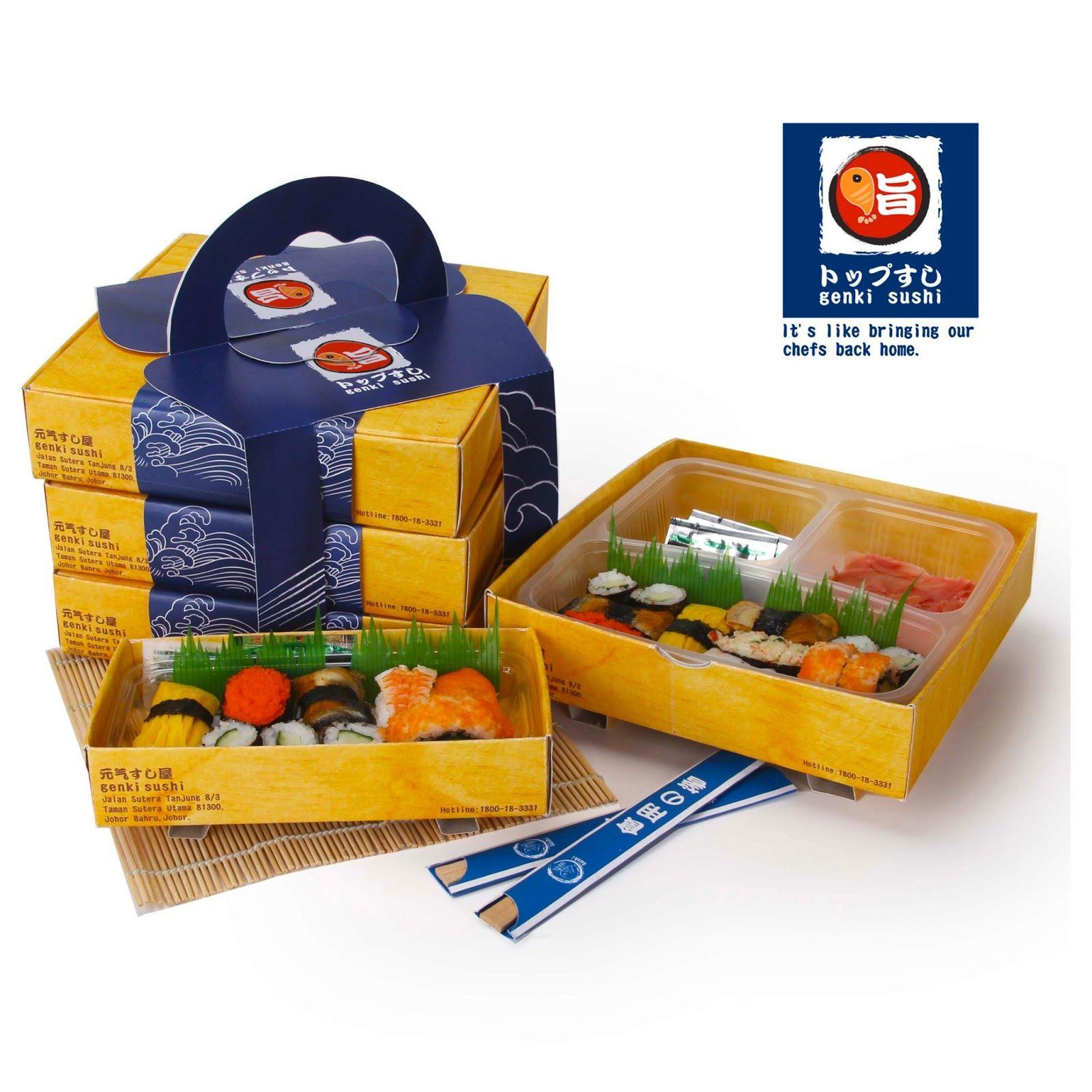 Genki Sushi Take Away (Student Project)   Packaging