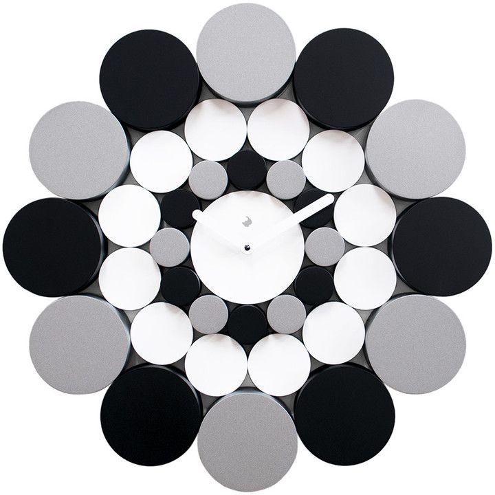 Progetti - Bimba Wall Clock - Black & Silver