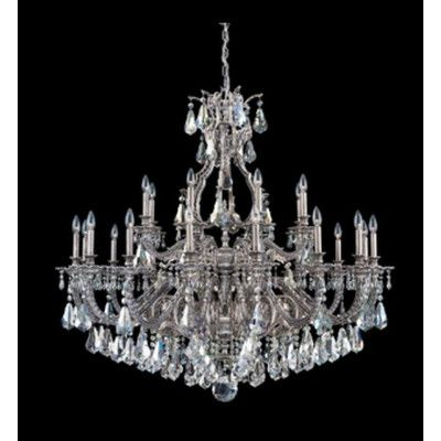 Schonbek Sophia 24-Light Crystal Chandelier Finish: Midnight Gild, Crystal Color: Strass Silver Shade