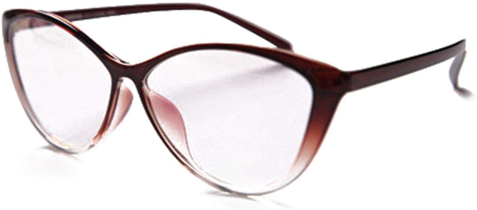 7c731fdd6e417 Hibote Hombres Mujeres Gafas de Ojo de Gato - Gafas de Lentes Transparentes  Gafas - Gafas