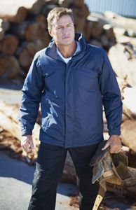 Regatta Jacket - Concealed hood with adjuster. Studded stormflap with hook and loop. Adjustable cuffs. 1 chest pocket & 2 zipped lower pockets. Inner security pocket. Adjustable shockcord hem. Concealed zip entrance in lining for embroidery access.