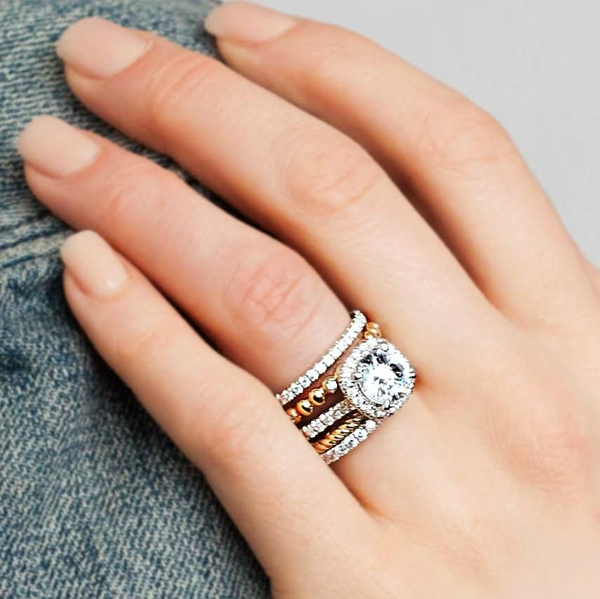 Love The Idea Of Adding Stackable Rings To Wear With My Engagement