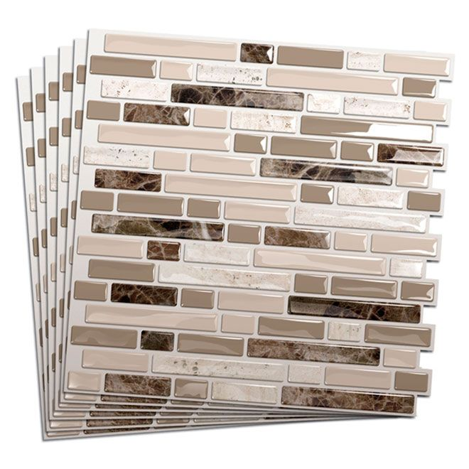 Tuile de mosa que murale maison in 2019 smart tiles - Mosaique adhesive pour salle de bain ...