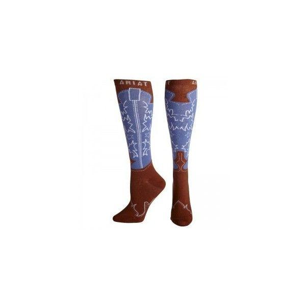 6411f51c8f3 Ariat Womens Western Boot Knee High Socks ($9.99) ❤ liked on ...