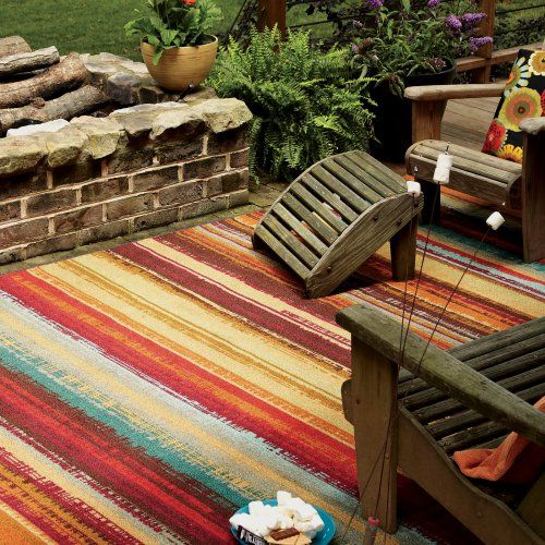 Mohawk Home Avenue Stripe Indoor Outdoor Rug Garden Ideas
