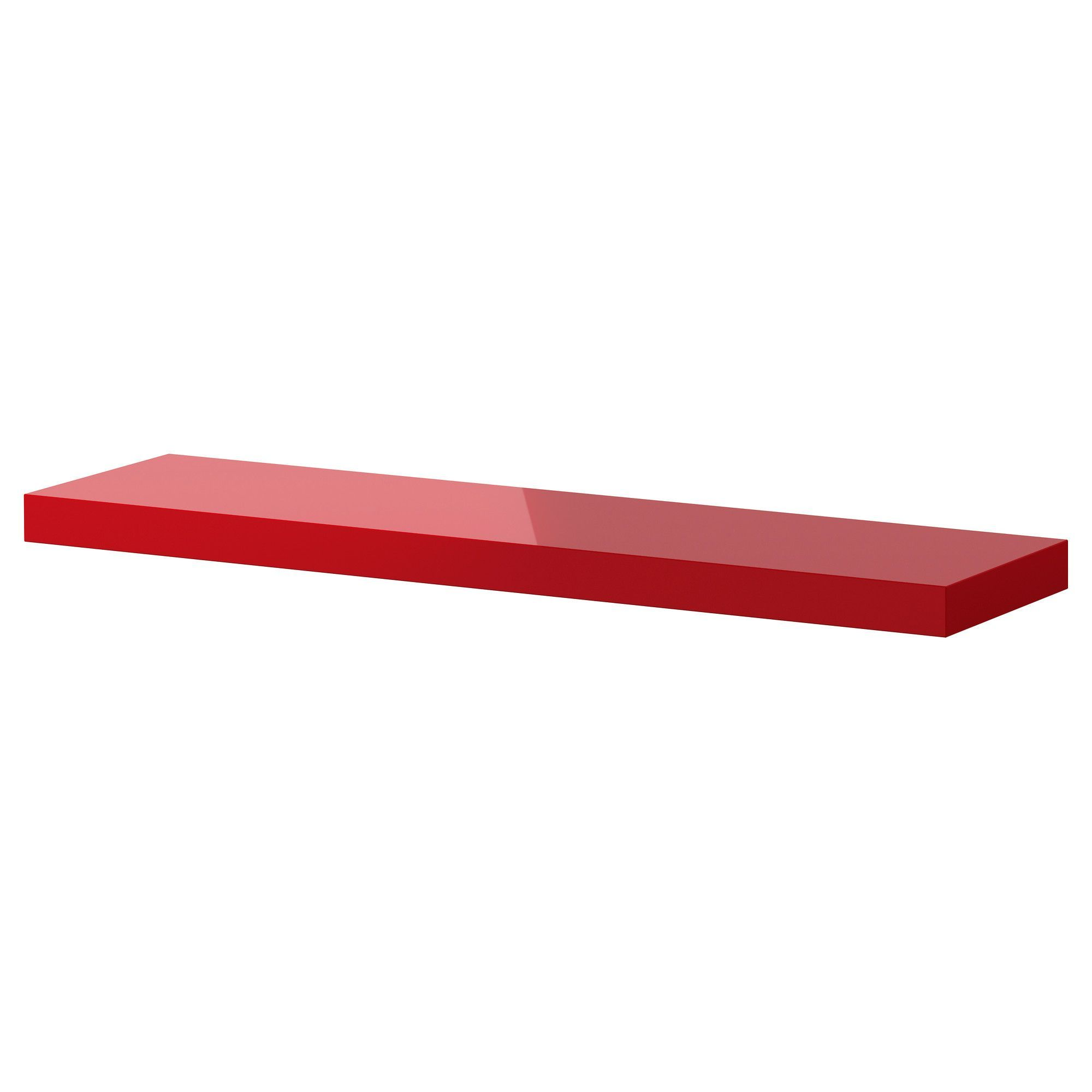 Floating Shelves In Bright Colors For The Living Room