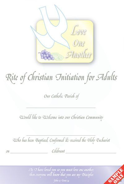 Rite of christian initiation for adults rcia rc04 certificate achievement student award certificates for children certificate of achievement academic award certificate certificate yelopaper Images
