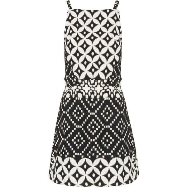 7e01e248b56 TOPSHOP Daisy Jacquard Pinafore Dress ( 76) ❤ liked on Polyvore featuring  dresses