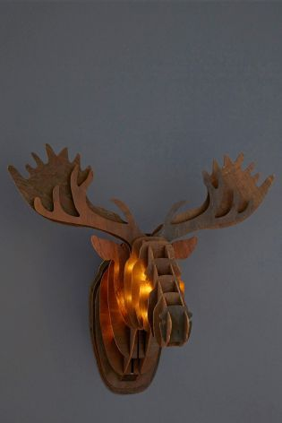 Buy Lit Wall Moose Head From The Next Uk Online Shop Buy Lights Wall Lights Decorative Accessories