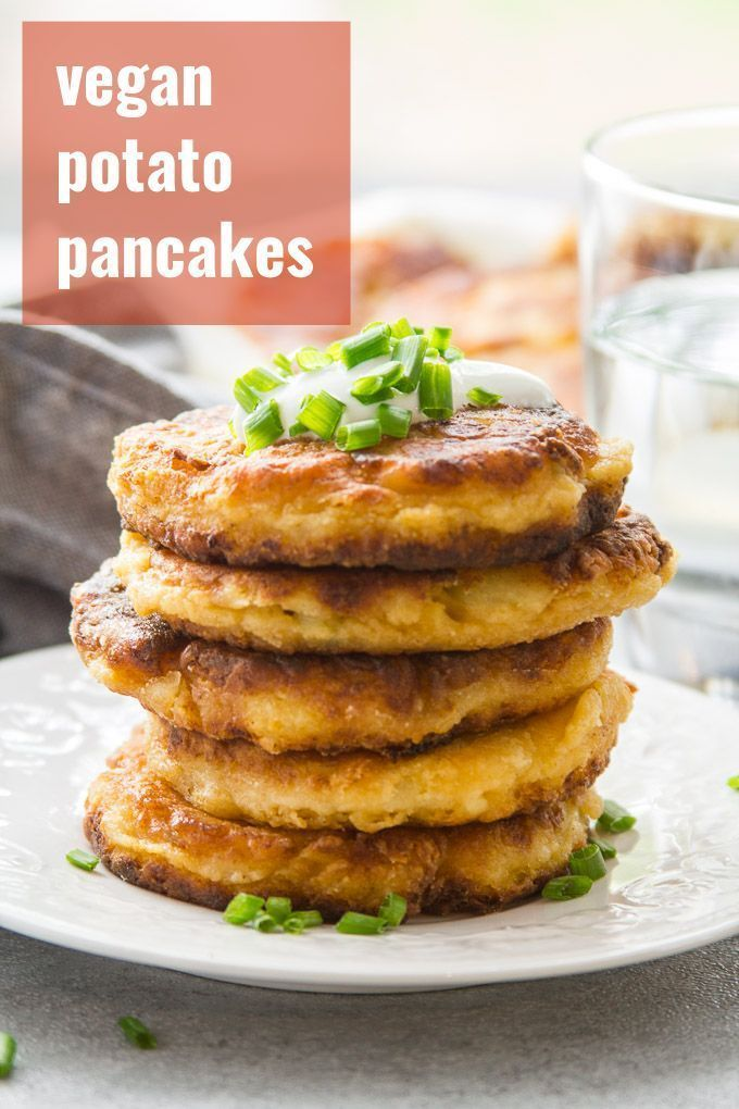 Cheesy Vegan Mashed Potato Pancakes #potatopancakesfrommashedpotatoes Crispy on the outside, ooey, gooey, and ever so cheesy on the inside! These vegan potato pancakes are indulgent, super easy to whip up, and perfect for using leftover mashed potatoes. #vegan #veganfood #veganrecipes #vegetarian #vegetarianrecipes #meatlessmonday #potatoes #thanksgiving #potatopancakesfrommashedpotatoes