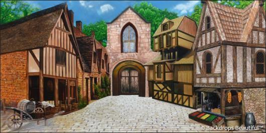 Medieval Village 5 Backdrops Medieval Village