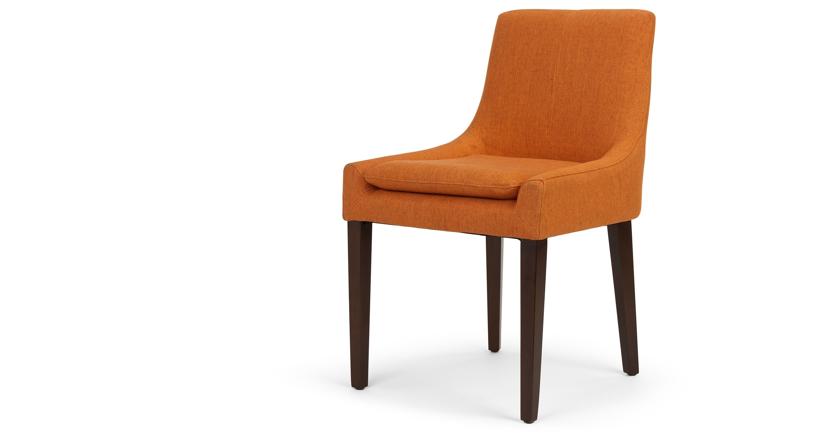 DINING TABLE CHAIRS Percy Scoop Back Chair, Marigold Orange