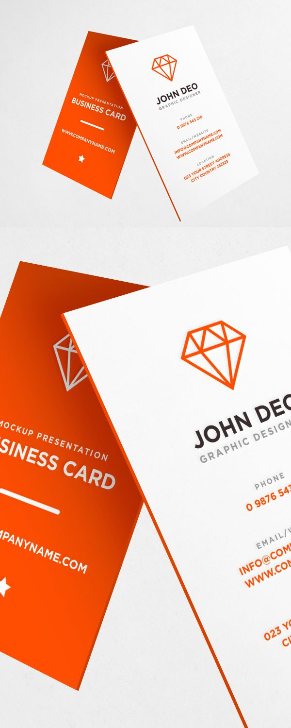 Business Card Mockup PSD Download Free Business Cards - Free business cards templates photoshop