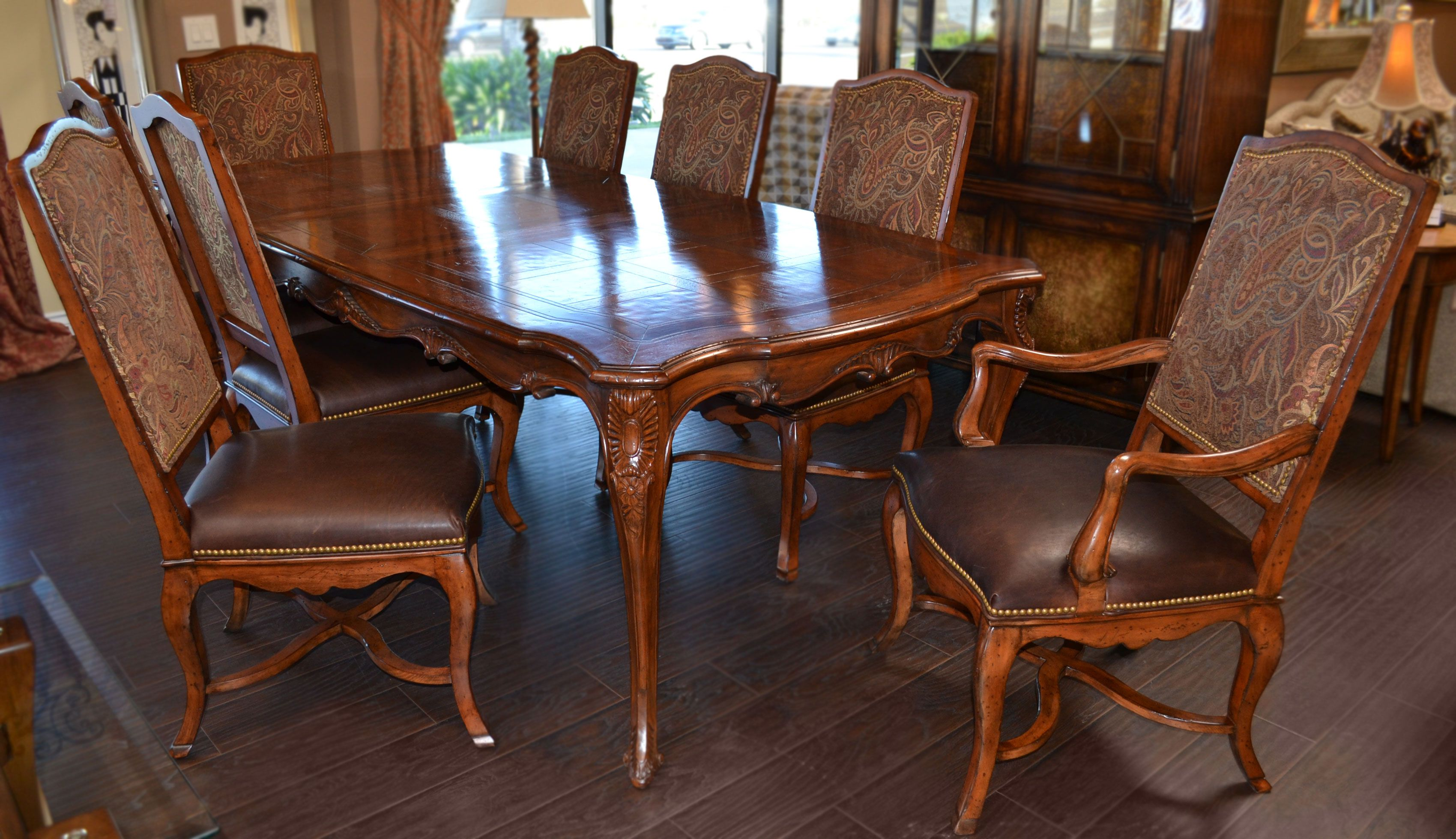 Henredon Castellina Dining Table And Chairs Luxury Furniture