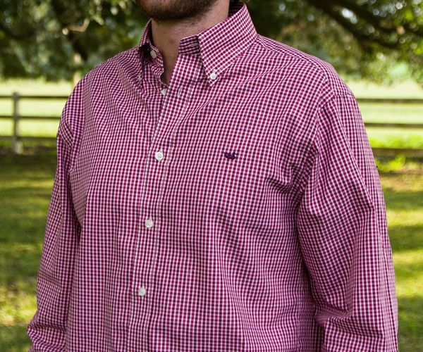 Southern Marsh Collection — The Hookbill Gingham from Southern Marsh - Wrinkle Free   size-small