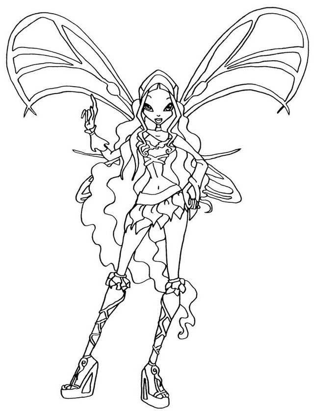 Layla Sophix Winx Club Coloring Page For Girls Dibujos Dibujitos Lindos Lindo