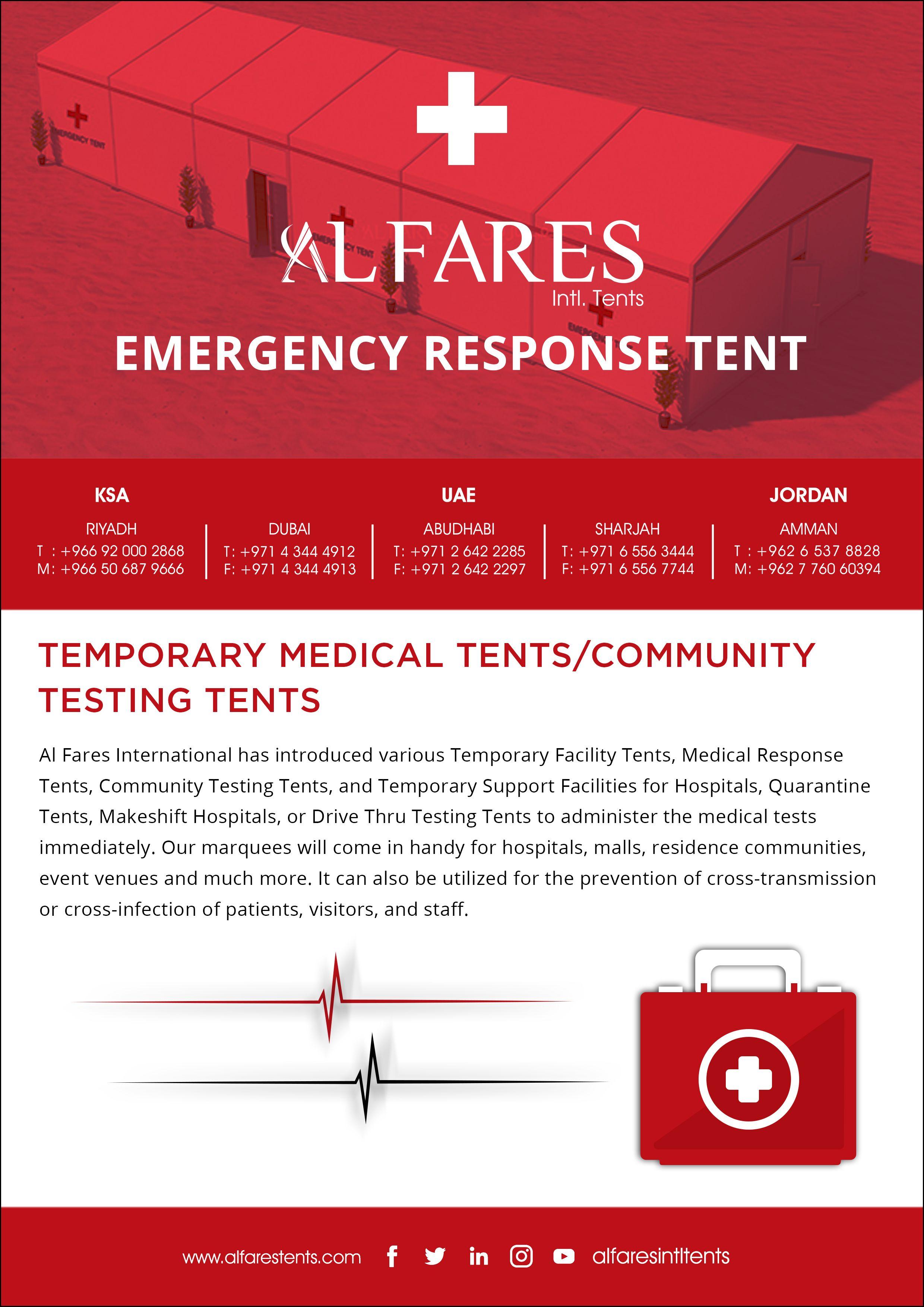 Temporary Medical Tents Makeshift Hospitals Uae Saudi Arabia In 2020 Medical Tests Tent Event Tent