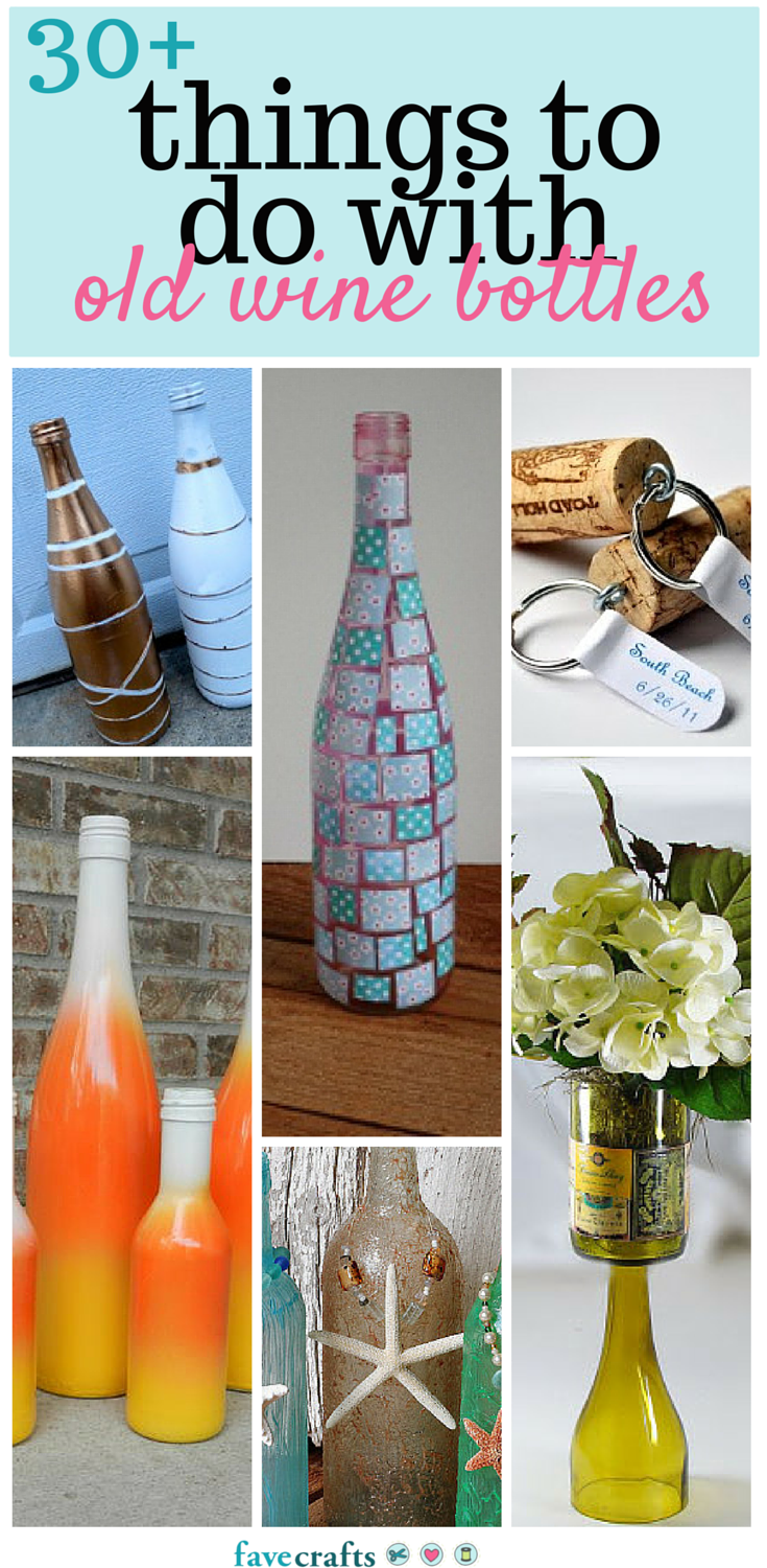 Wine Bottle Crafts 30 Things To Do With Old Bottles