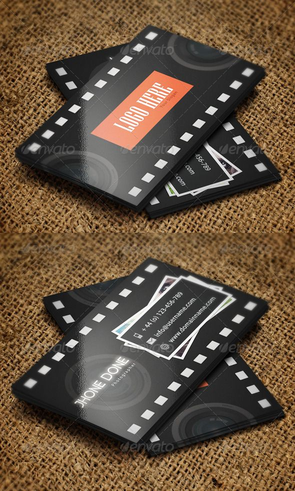 Photographer business card photographer business cards business photographer business card psd template reheart Image collections