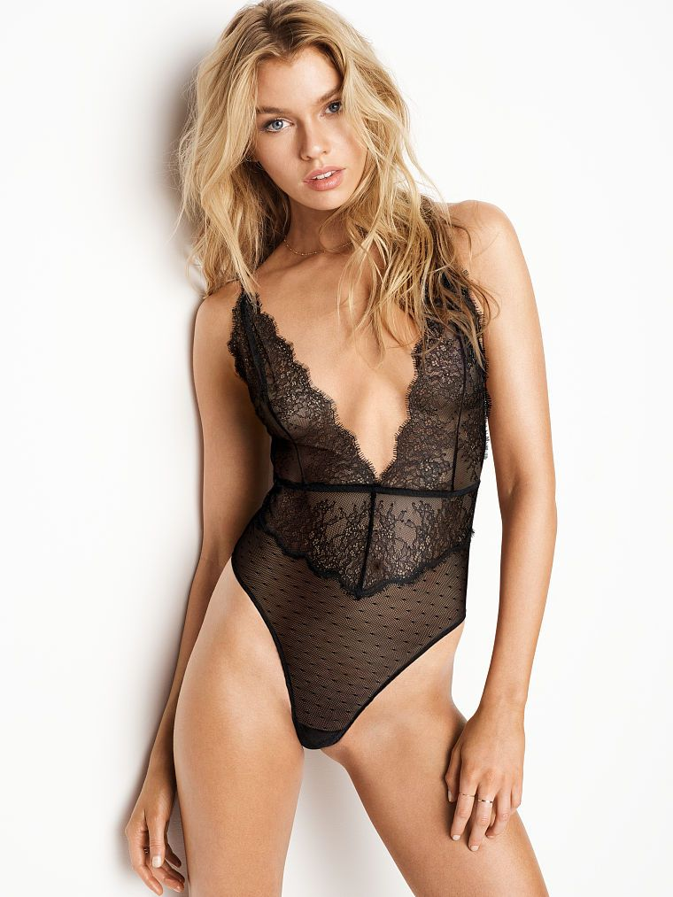 Chantilly Lace Plunge Teddy - Very Sexy - Victoria s Secret ... bcdcca3b9