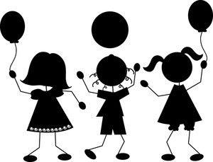 Pin By Aryaris Mora On Cameo Silhouet Black And White Children Clip Art Cartoon Clip Art
