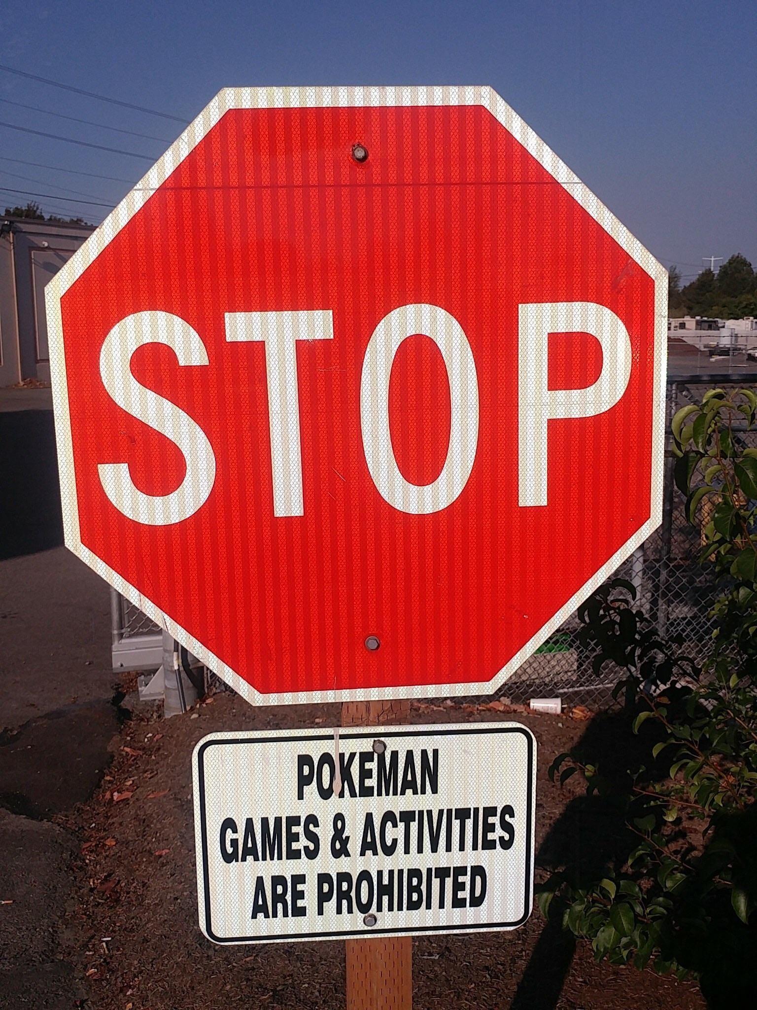 All Pokeman Activities Must Stop