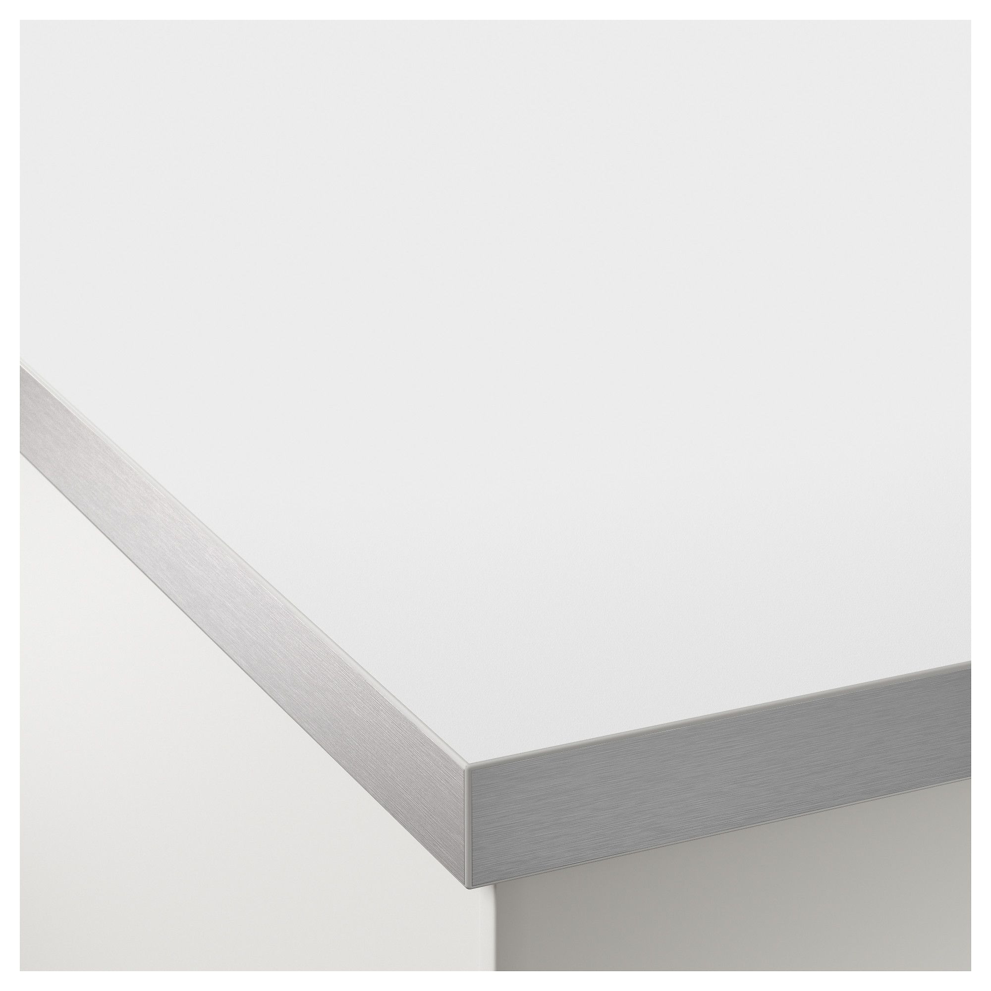 Hallestad Countertop Double Sided White Aluminum Effect Aluminum Effect Metal Effect Edge With Metal Effect Edge Laminate 98x1 1 2 249x3 8 Cm Pool Accessories Diving Board Laminate Countertops