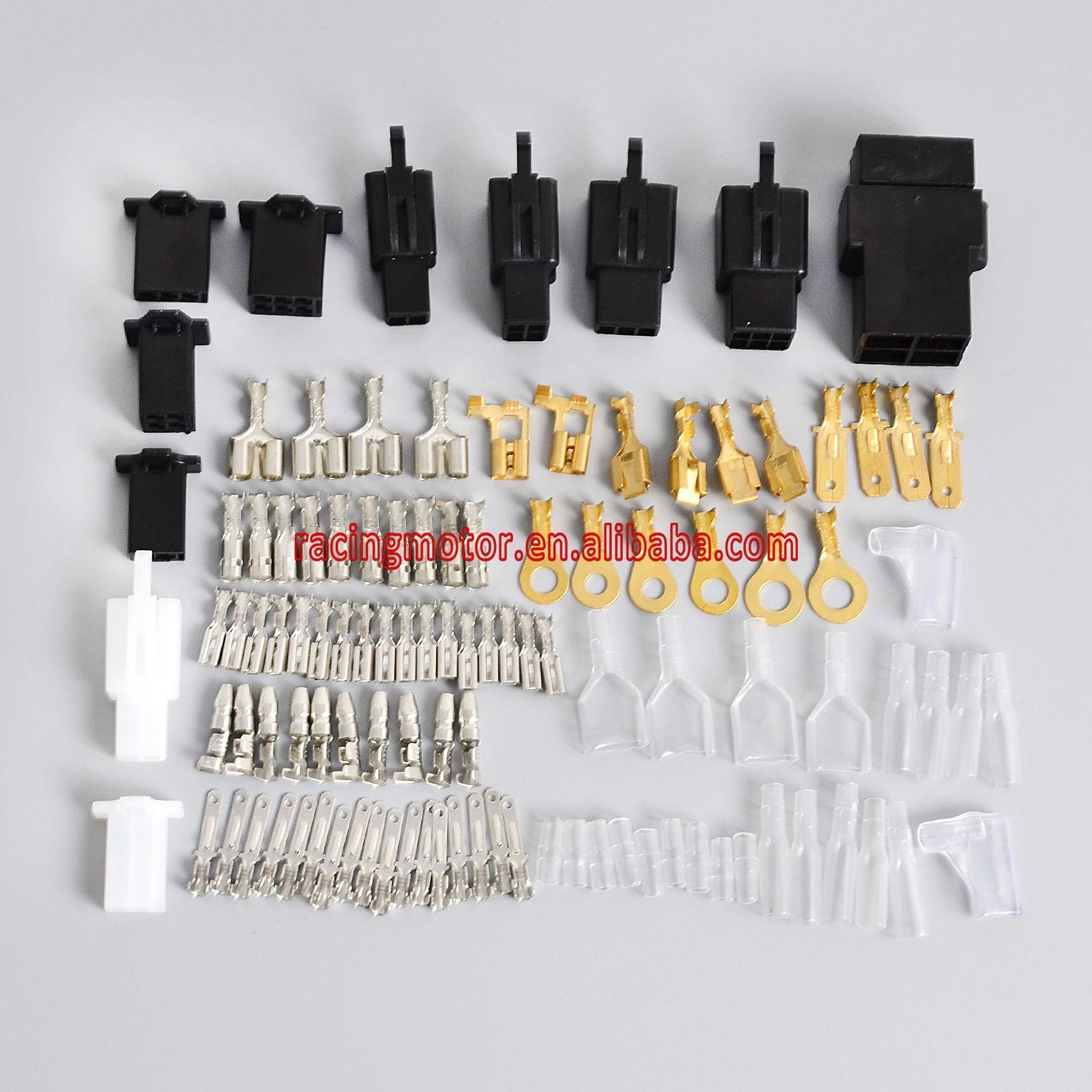 For Honda Motorcycle Electrical Wiring Harness Loom Repair Kit Plugs Tool Bullets Connectors