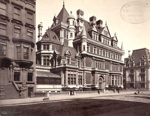 Residence of Cornelius Vanderbilt II - 5th Avenue bet 57th & 58th Streets  Built 1883 ~ Razed 1927  Architect: George Browne Post