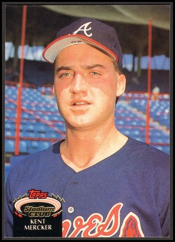 1992 Kent Mercker Topps Stadium Club Baseball Card 147