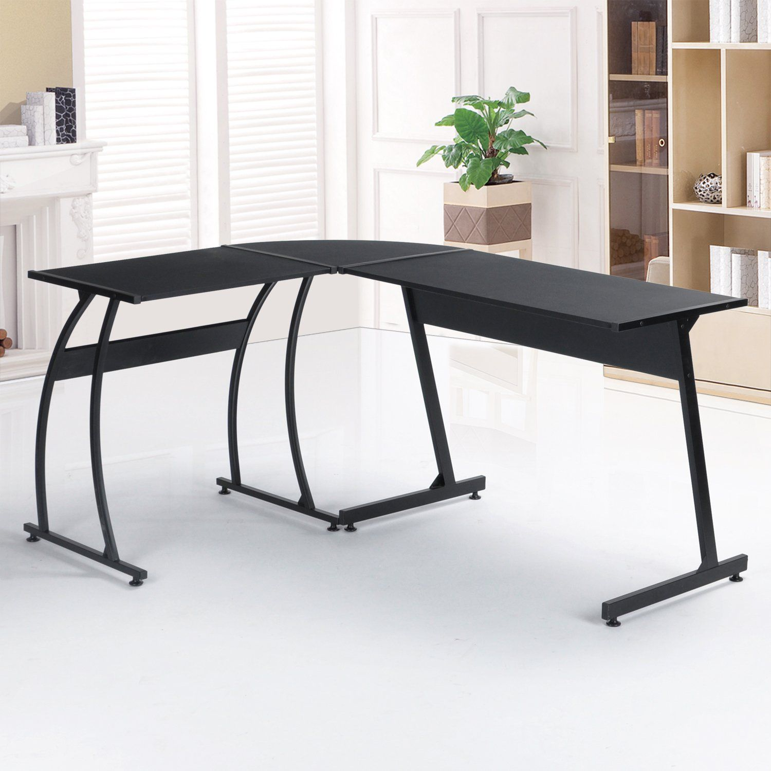 office desk workstation. GreenForest L-Shape Corner Computer Desk PC Laptop Table Workstation Home Office 3-Piece