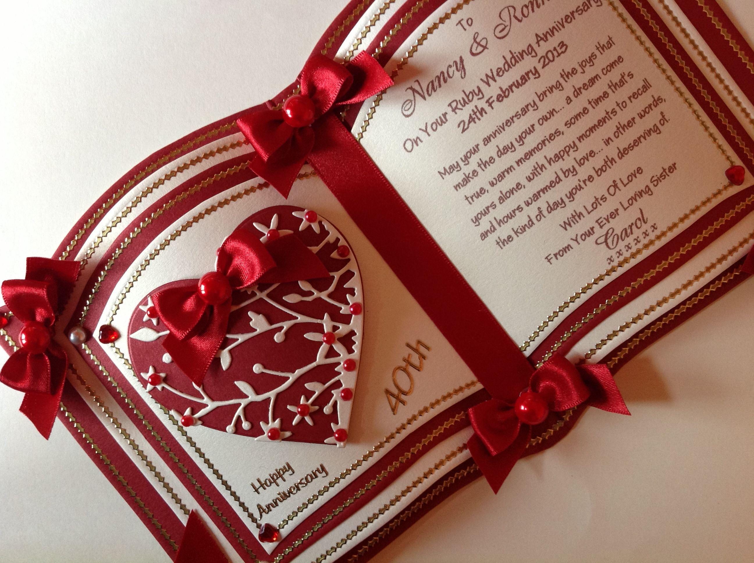 Днем, рубиновая свадьба открытка скрапбукинг