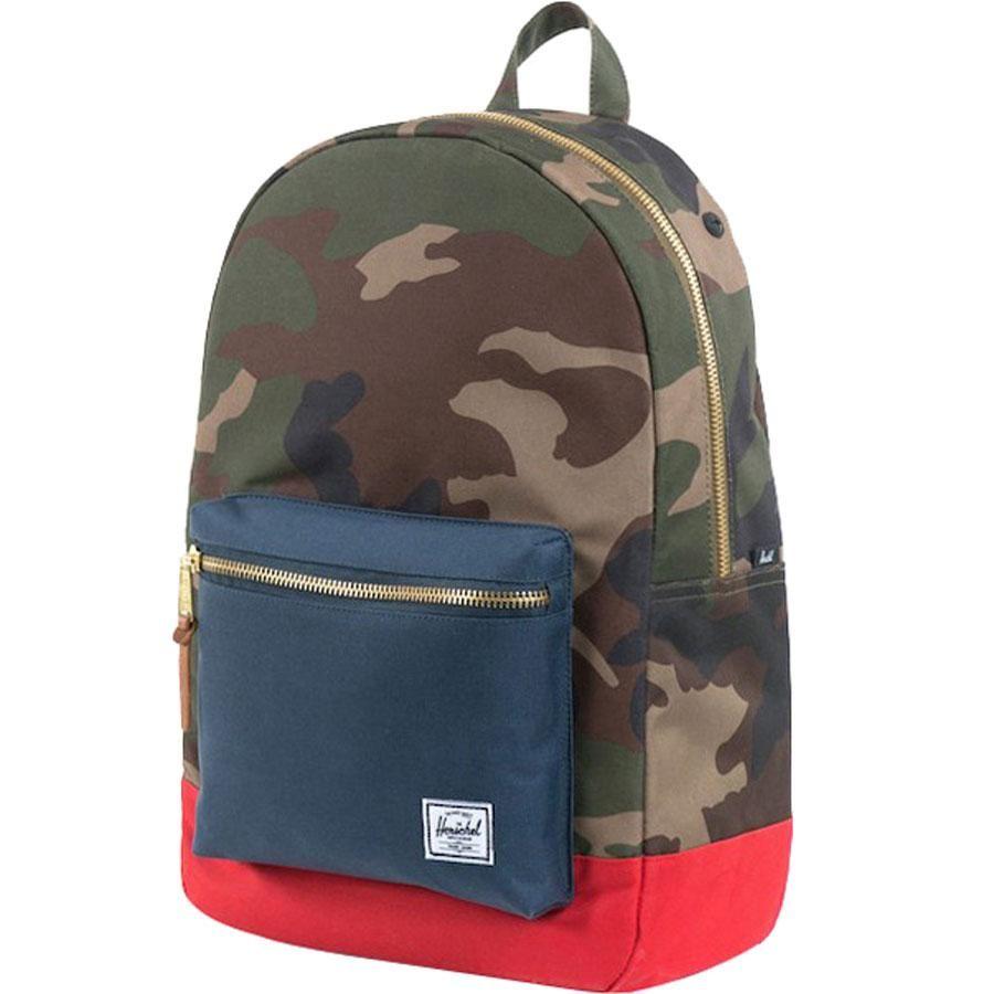 c2069c3df7e Herschel Supply Co Settlement Backpack (woodland camo   navy   red)  Accessories 10005-00041
