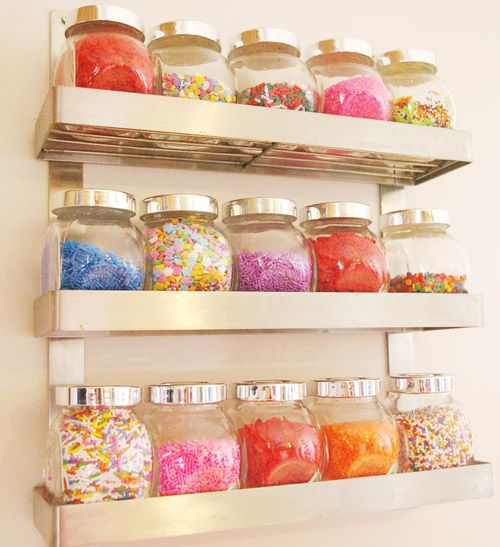 I M Beyond Jealous Over This Kind Of Set Up For Storing Candy Bling Cupcake Kitchen Decorbakery