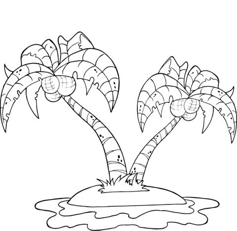 Desenhos De Ilha Para Colorir Pintar Imprimir Ou Preparar