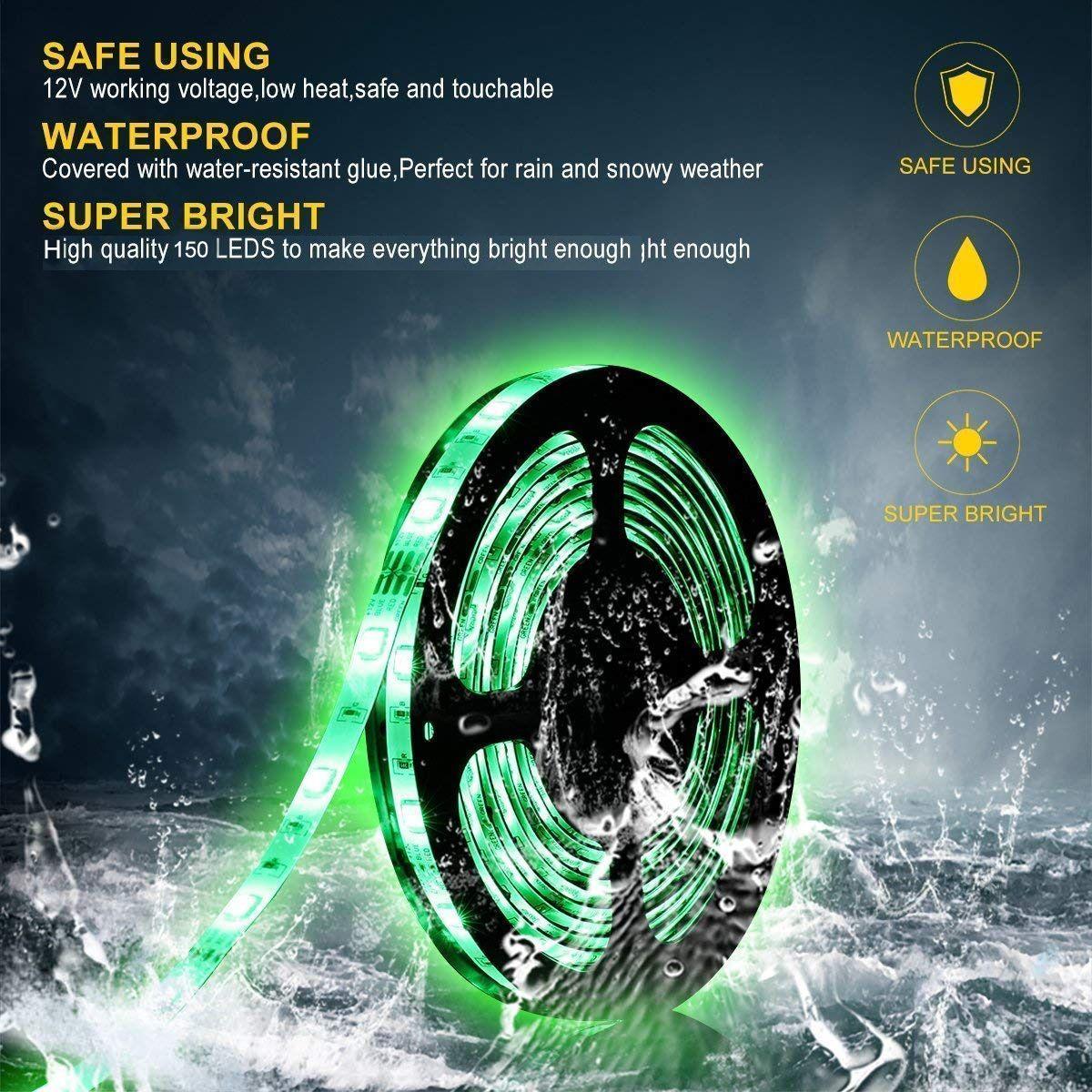 Waterproof Smart Wifi Strip Lights Striplights Diy Led Strip Lighting Waterproof Led Led Light Strips