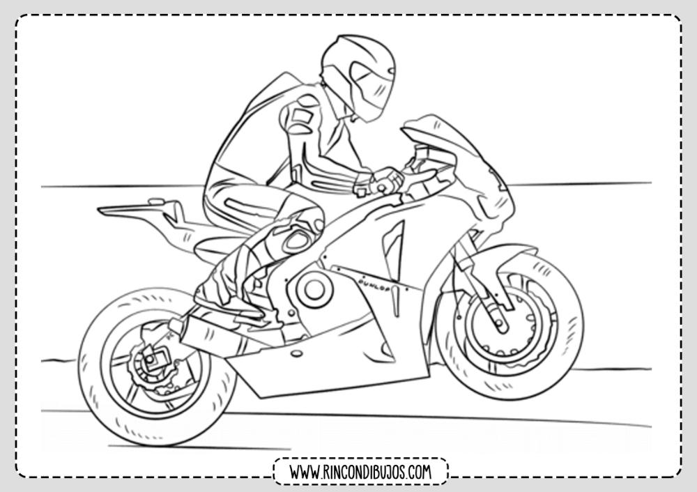 Dibujo Motocicleta Colorear Motos Para Dibujar Dibujos Moto Para Colorear