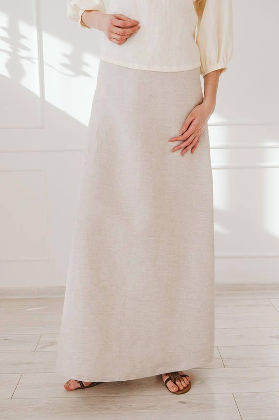 d28c6bffdd Pencil Linen Skirt / Straight Skirt / Linen Cotton Skirt / Maxi Skirt /  Linen Skirt For Women / Long