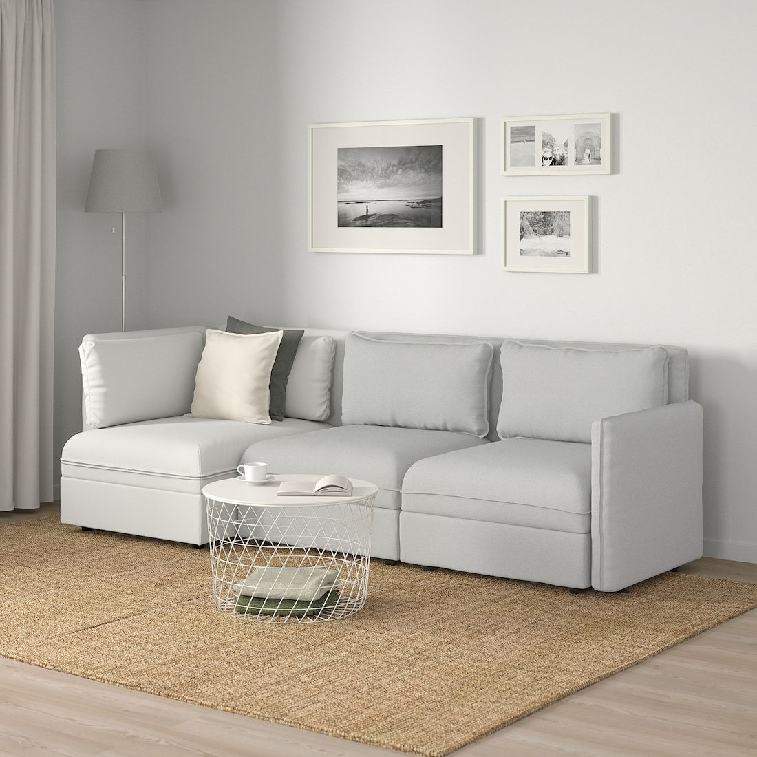 Vallentuna 3 Seat Modular Sleeper Sofa And Storage Orrsta Murum Light Gray White Ikea In 2020 Vallentuna Sofa Pillow Sets Modular Sofa
